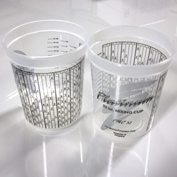 1 quart mixing cup with printed PPG mix ratios (Matthews)