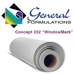 WindowMark 6.0 Mil- Matte White Perforated 50/50 Film - 1 yr