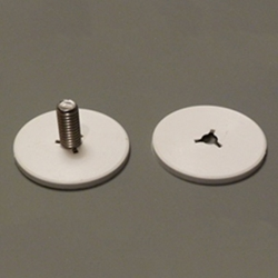 "White Nylon Stud Cover for 1.25"" Base Studs"