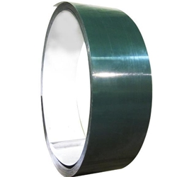 "Aluminum Coil 5.3"" wide x 270 ' long, Ivy Green outside/ white inside"