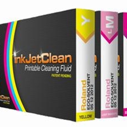 inkJetClean Printable Cleaning Fluid for Mutoh Printers - Eco-Sol Max Ink - Yellow
