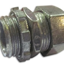 "1/2"" Insulated, Zinc Plated Steel Compression Connector"