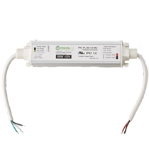 Threaded Universal 60W Power Supply, 12VAC, 120VAC-277VAC, IP67 rated