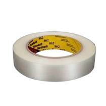 3M Reinforced Strapping/boxing tape, Clear, 862 - Clear - 48mm x 55m