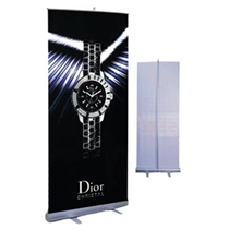 "Roll Up Banner Stand 33.5""w x 78""h"