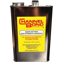 Channel Bond adhesive - 1 gallon - glue polycarbonate to trim cap.